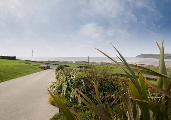Private Driveway for self catering in croyde