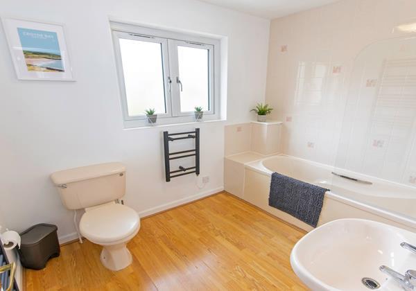 Spacious Family bathroom with sea views