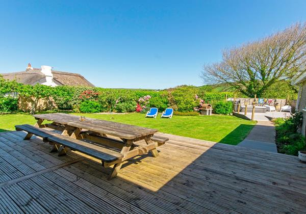 Decking area in large holiday home