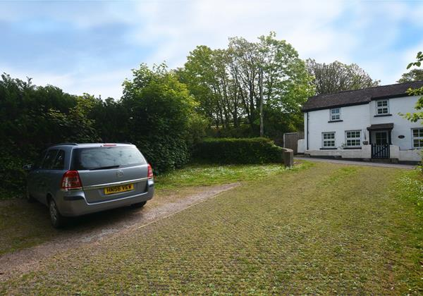 Driveway car parking across for the cottage
