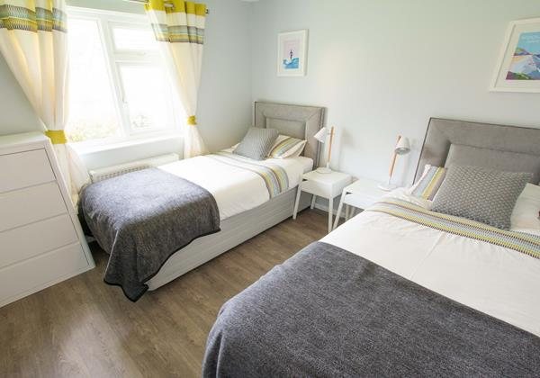 Twin beds or superking at Sandbanks Braunton