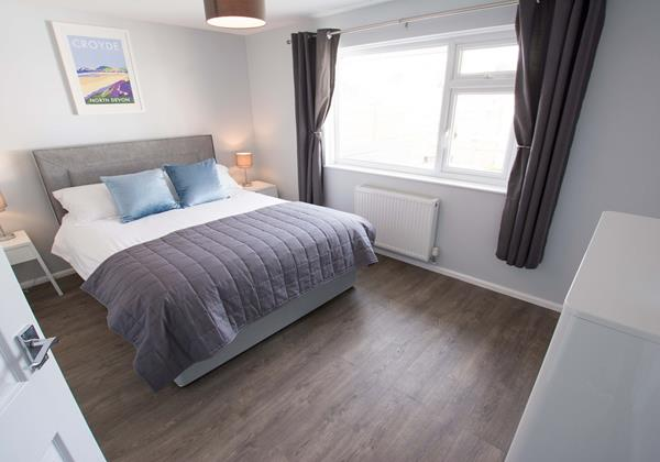 Master bedroom at Sandbanks Braunton North Devon