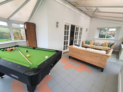 Conservatory pool table games room sun lounge