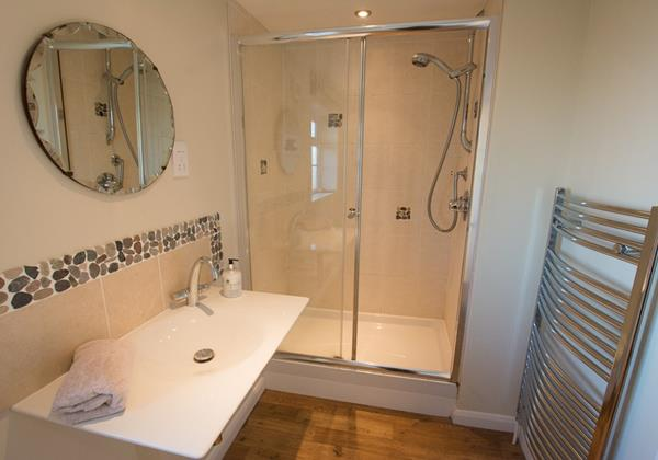 Upstairs family shower room