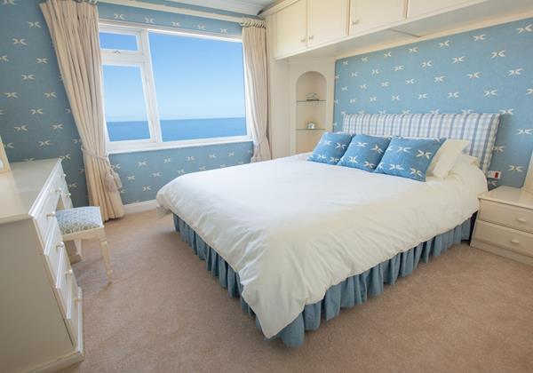 Double bedroom and sea views