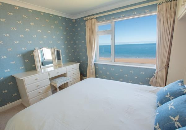 Main double bedroom with sea views