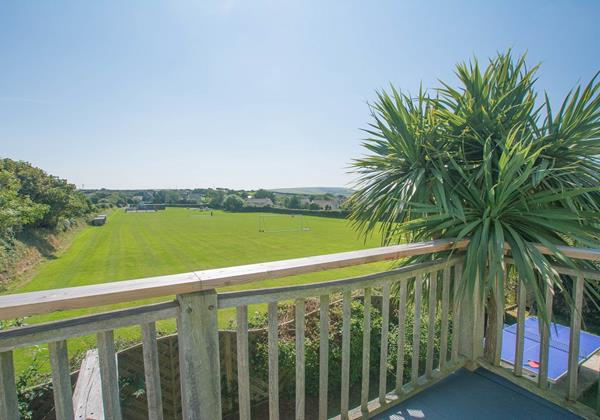 Bedroom balcony views at Bagend Devon
