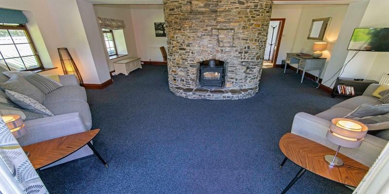 Streamways garden lounge with wood burner