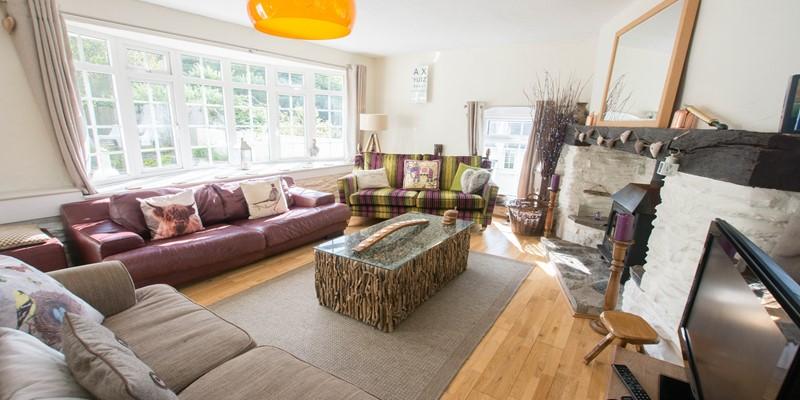 Character charm lounge with wood burner