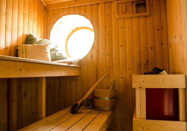 Relax in your private sauna