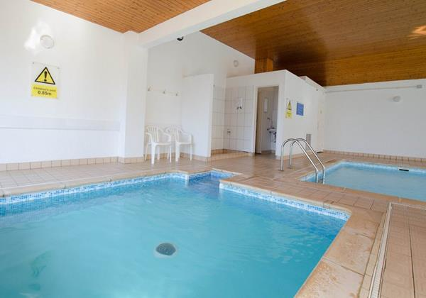 Indoor heated swimming pool in Devon