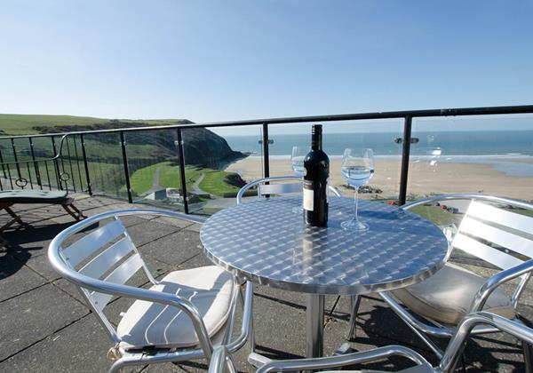 Balcony overlooking Putsborough Beach Devon