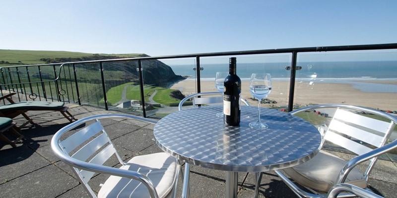 Balcony overlooking Putsborough Beach Devon