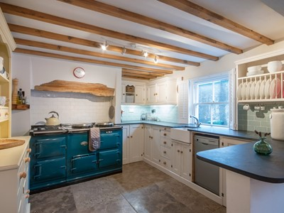 Stunning feature Aga open cottage character kitchen