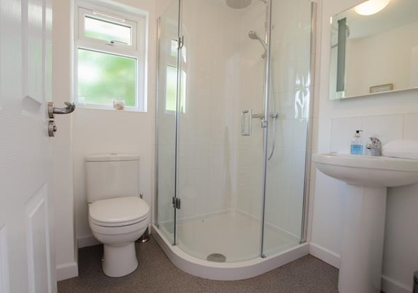 Downstairs shower room perfect for mobilty impaired on holiday