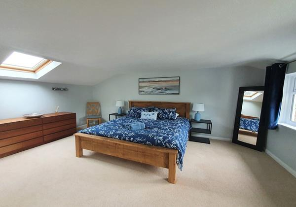 Master en suite bedroom at Ladywell Croyde