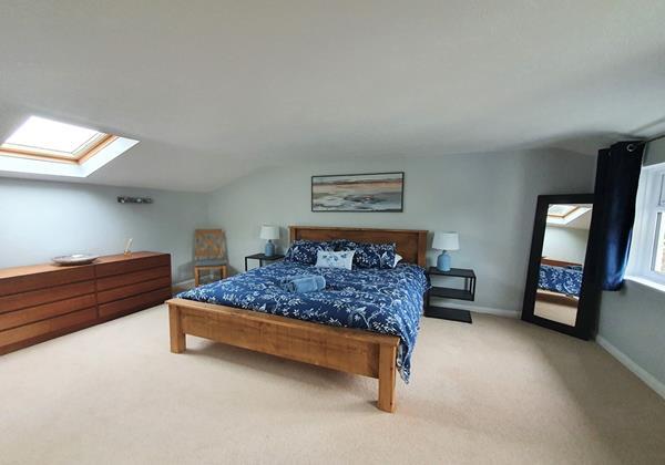 Master en suite bedroom at Ladywell Croyde
